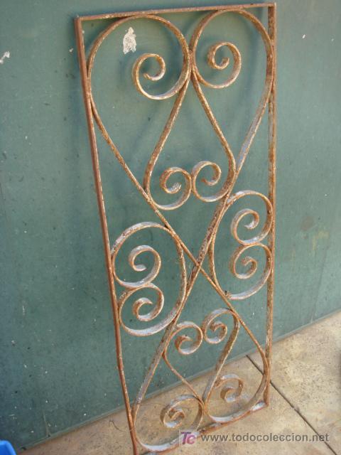Pareja de rejas antiguas de forja de 110 x43 comprar en - Rejas de forja antiguas ...