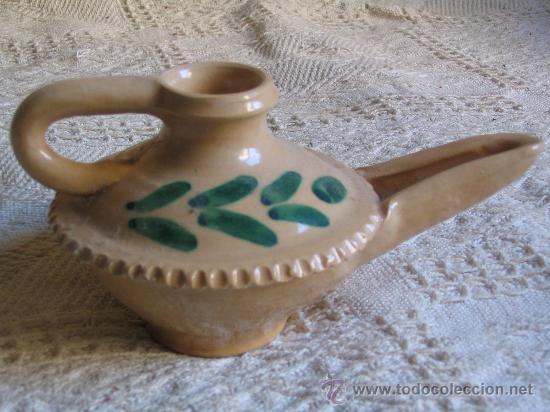 Candil lampara lucerna de ceramica con decoraci comprar - Lamparas lucena ...
