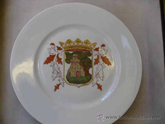 VIGO - RARO PLATO ESCUDO CIUDAD PINTADO A MANO - PORCELANA BAVARIA - PERFECTO-CORREO + INFO (Antigüedades - Porcelana y Cerámica - Alemana - Meissen)