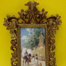 Antigüedades: PEQUEÑO MARCO EN ORO FINO SIGLO XIX. Lote 21111108
