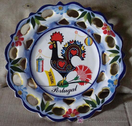 Plato de cer mica souvenir recuerdo de portu comprar Ceramica portuguesa online