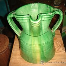Antigüedades: JARRA DE TITO ÚBEDA (JAÉN), VIDRIADA EN VERDE. ALTURA: 18.5 CMS.. Lote 25965350