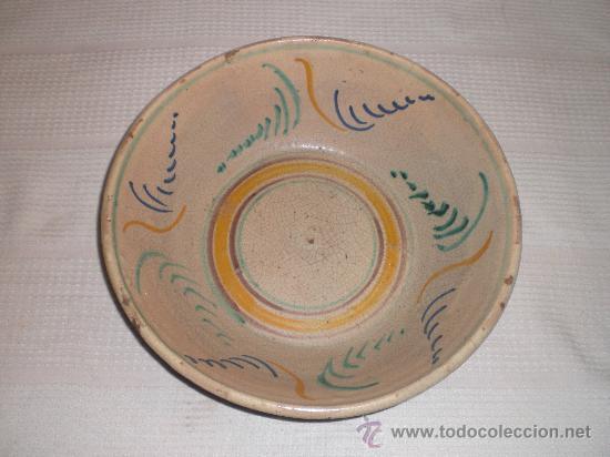 MAGNIFICO PLATO,LEBRILLO, FUENTE S.XIX,LUCENA (CORDOBA) (Antigüedades - Porcelanas y Cerámicas - Lucena)