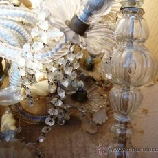Antigüedades: IMPRESIONANTE LAMPARA DE ARAÑA PARA REPARAR. Lote 26998930