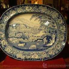 Antigüedades: EXCEPCIONAL BANDEJA STAFFORD 53X43 CMS. - C. 1820 - VER FOTOS. Lote 27564605