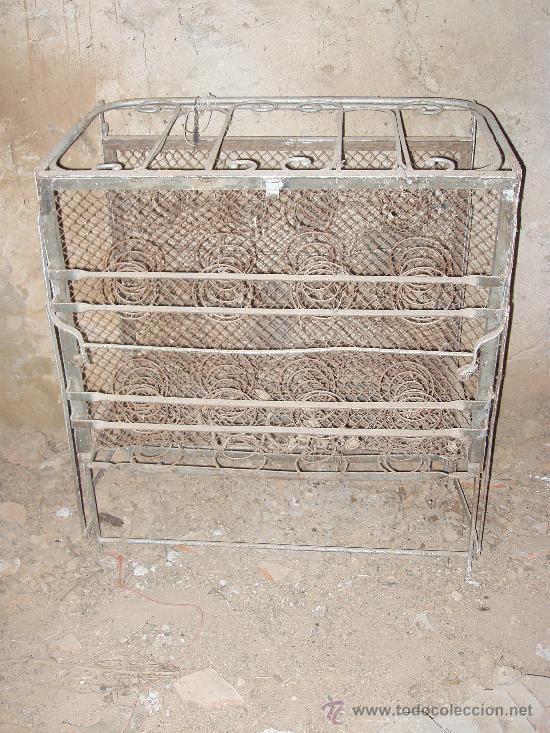 CAMA ABATIBLE DE HIERRO (Antigüedades - Muebles Antiguos - Camas Antiguas)