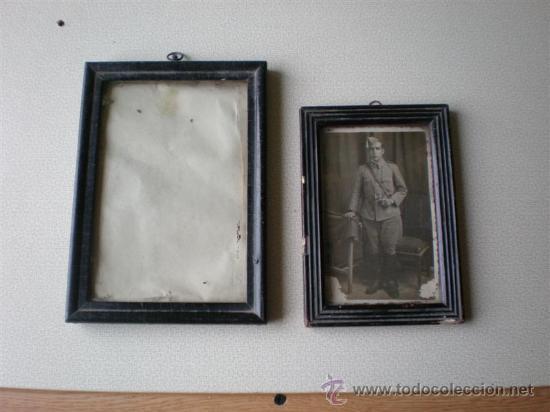 2 PEQUEÑOS MARCOS ANTIGUOS (Antigüedades - Hogar y Decoración - Portafotos Antiguos)
