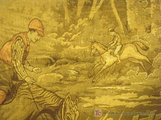 Antigüedades: TAPIZ TEJIDO A MAQUINA DE 1,5x3,4 m. DE PRINCIPIOS DEL XX - Foto 10 - 26999727