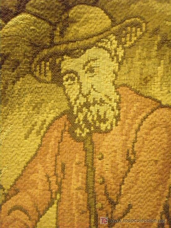 Antigüedades: TAPIZ TEJIDO A MAQUINA DE 1,5x3,4 m. DE PRINCIPIOS DEL XX - Foto 6 - 26999727