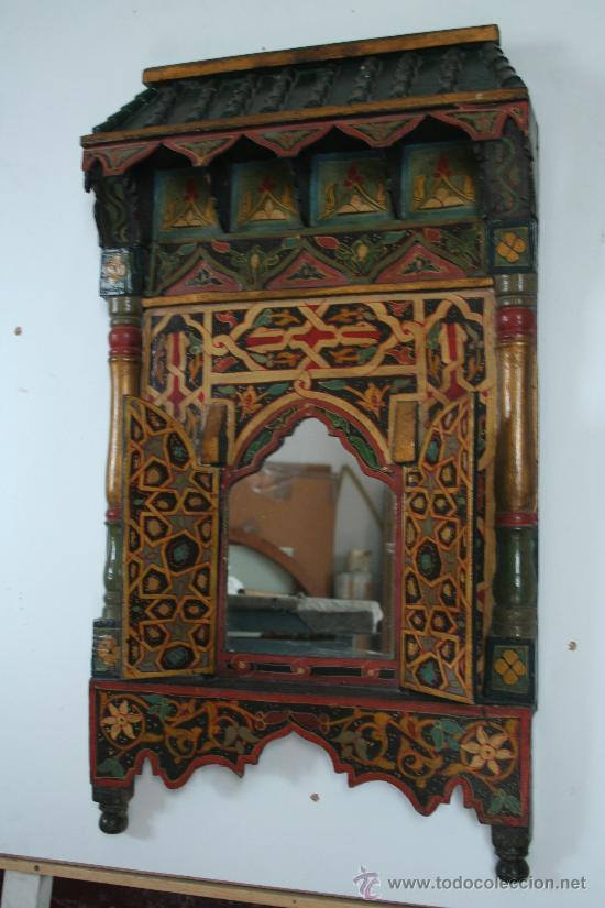 Un bonito espejo de madera estilo rabe muy dec comprar for Muebles estilo arabe