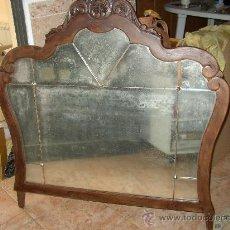 Antigüedades: ANTIGUO ESPEJO SOBRECÓMODA RESTAURADA Y TRATADA CONTRA CARCOMA.. Lote 22686036