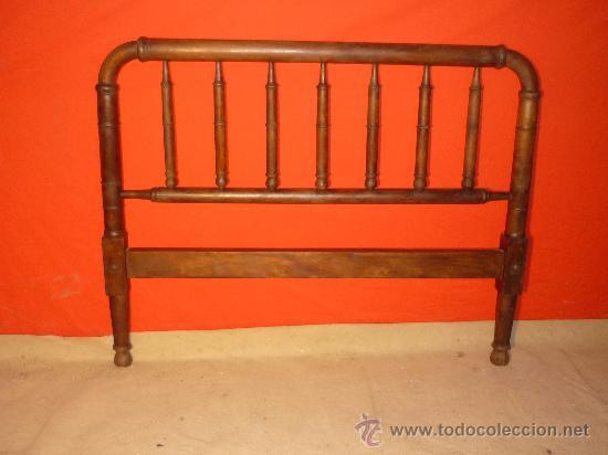 Cabecero de cama en madera de haya restaurado comprar - Cabeceros de cama antiguos ...