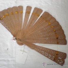 Antigüedades: ABANICO EN MADERA LABRADA. Lote 18470238