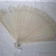 Antigüedades: ABANICO EN MARFIL LABRADO. Lote 18470258