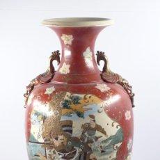 Antigüedades: JARRÓN ORIENTAL DE CERÁMICA, 1920'S. 64 CM. DE ALTURA. Lote 18475957