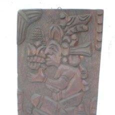 Antigüedades: TALLA EN MADERA FIGURA ASTEKA. Lote 18487940