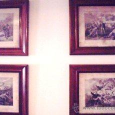 Antigüedades: COLECCION DE 4 CUADROS ANTIGUOS. Lote 18536033