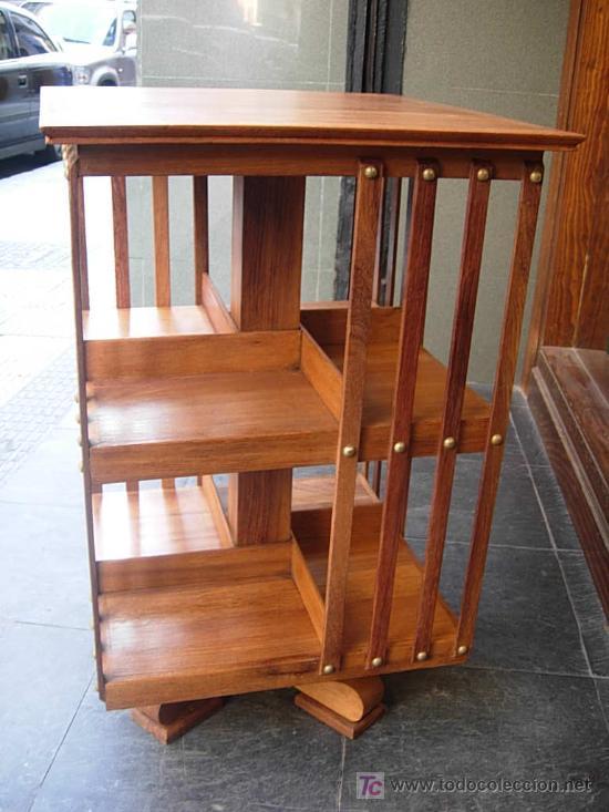 Revolving giratorio para libros de madera de p comprar for Palisandro muebles