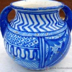 Antigüedades: MUY ANTIGUO CACHARRO DE CERAMICA (ESTÁ PEGADO ). Lote 27269173