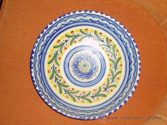 Antiguo Plato De Ceramica Espa Ola Comprar Botijos