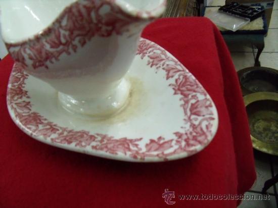 Antigüedades: Antigua y bonita salsera de porcelana del siglo XIX - Foto 3 - 24838542