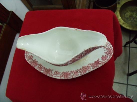 Antigüedades: Antigua y bonita salsera de porcelana del siglo XIX - Foto 4 - 24838542
