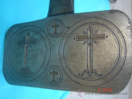 Antigüedades: VISTA DEL MOLDE PARA LAS HOSTIAS - Foto 5 - 27300436