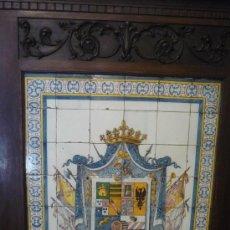 Antigüedades: PANEL DE AZULEJOS HERÁLDICO DE TALAVERA. RUÍZ DE LUNA GUIJO Y Cª. Lote 18632298