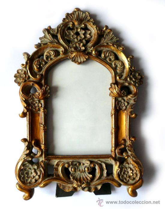 Cornucopia dorada marco o espejo pan de oro est comprar - Espejos antiguos de pared ...