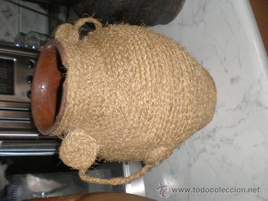 Antiguo puchero de barro forrado de cuerda de p comprar for Cuerda de pita
