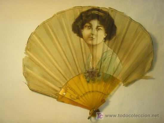 ABANICO DE SEDA PINTADA PARA RESTAURAR (Antigüedades - Moda - Abanicos Antiguos)