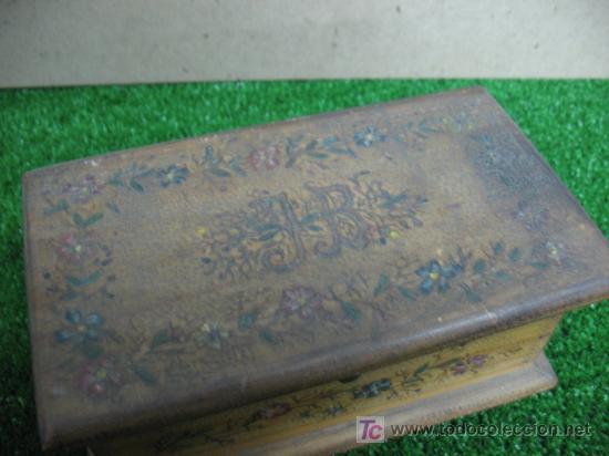 Antigüedades: CAJA MADERA JOYERO CON ESPEJO - Foto 5 - 148760765