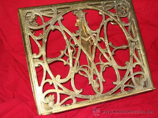 Atril abatilbe de sobremesa bronce dorado decor comprar revisteros antiguos en todocoleccion - Atril decoracion ...