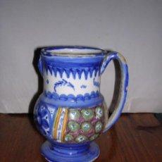 Antigüedades: JARRA RIBESALBES O MANISES ANTIGUA S. XIX TIENE EL PICO ROTO,VER FOTO,(NO COPIA)16 CM. ALTURA,. Lote 24841743