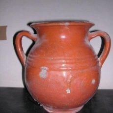 Antigüedades: CERAMICA POPULAR CATALANA JARRA O TUPI ANTIGUO (NO COPIA) 22 CM. ALTURA VER FOTOS. Lote 26192270