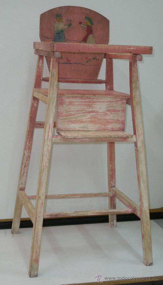 preciosa antigua silla bebé - ideal para restau - Comprar Sillas ...