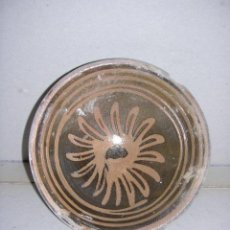 Antigüedades: CERAMICA POPULAR CATALANA DE VOLTA S,XVIII,ESCUDILLA,14,5 CM. 6 CM. DE ALTURA,VER FOTOS ADICIONALES. Lote 26305307