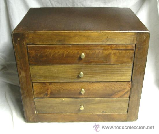 mueble restaurado de 4 cajones, madera de pino - Comprar Revisteros ...