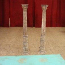 Antigüedades: PAREJA DE COLUMNAS LIQUIDACIÓN, (ACEPTAMOS CUALQUIER OFERTA). Lote 26501215