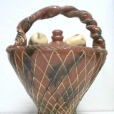 Antigüedades: ORIGINAL BOTIJO CERÁMICA RECUERDO DE CUENCA. Lote 27503497