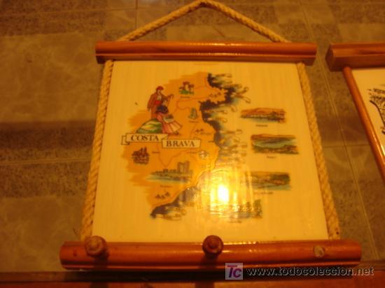 AZULEJO PARA COLGAR PAÑOS DE COCINA, FALTA UN BOTON DE MADERA (Antigüedades - Porcelanas y Cerámicas - Azulejos)