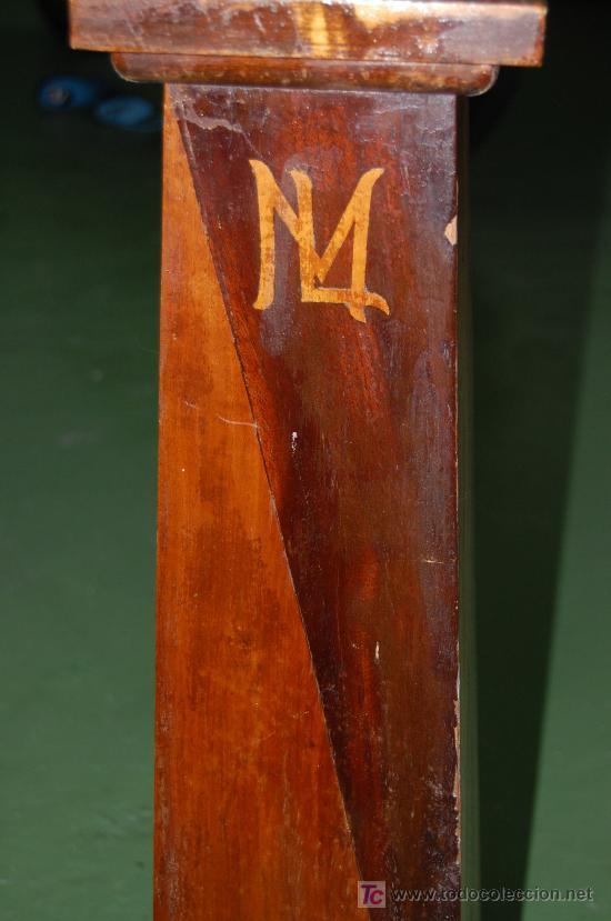 MUEBLE PARA TIESTO. 74CM DE ALTURA. BASE SUPERIOR 30X30CM. AÑOS 30. (Antigüedades - Muebles Antiguos - Revisteros Antiguos)