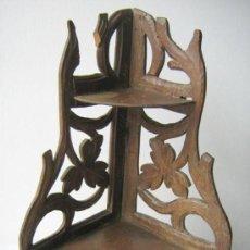Antiquités: ANTIGUA PEANA REPISA DE MARQUETERIA PLEGABLE MADERA. Lote 20493391