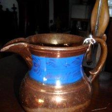 Antigüedades: JARRA DE CERAMICA DE REFLEJOS BRISTOL SIGLO XIX. Lote 19164179