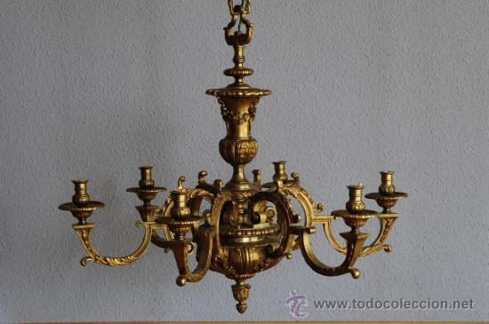 Lampara antigua de bronce estilo luis xiv comprar - Precios de lamparas ...
