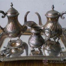 Antigüedades: JUEGO DE CAFÉ .. DE ALPACA. Lote 19182939