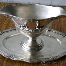 Antigüedades: SALSERA DE ALPACA. Lote 19183260