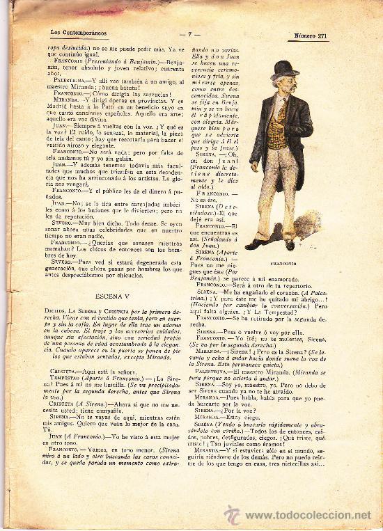 Antigüedades: TEATRO. LOS CONTEMPORANEOS. Nº 271. EL RAYO VERDE. ORIGINAL DE EUGENIO SELLÉS. 1914 - Foto 3 - 26851602