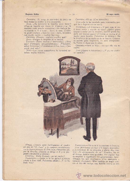 Antigüedades: TEATRO. LOS CONTEMPORANEOS. Nº 271. EL RAYO VERDE. ORIGINAL DE EUGENIO SELLÉS. 1914 - Foto 4 - 26851602