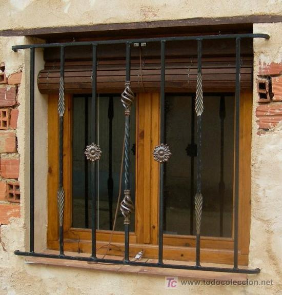 Reja de hierro forjada para ventana de 1m x 1 comprar - Rejas de forja antiguas ...
